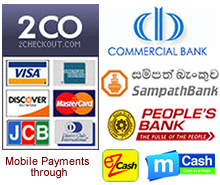 Payment methods supported by LankaHost Web Hosting Network, Including PayPal and Credit Card